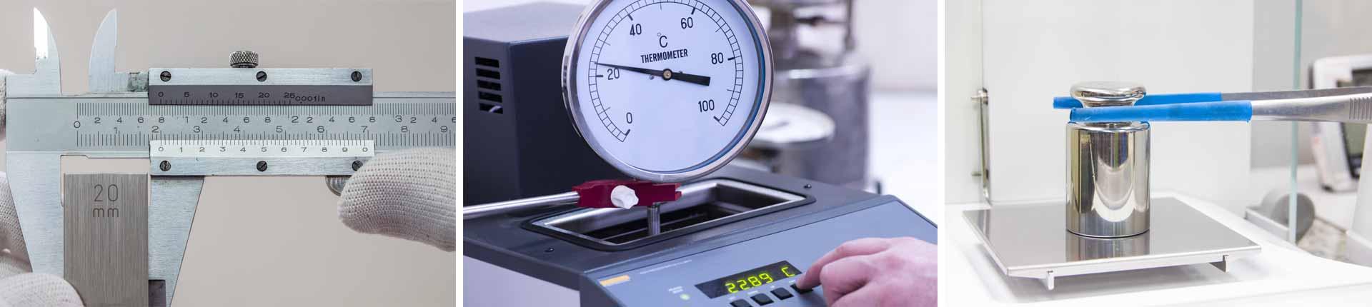 כיול מכשירים - תמונות המדגימות כיול מכשירי מדידה